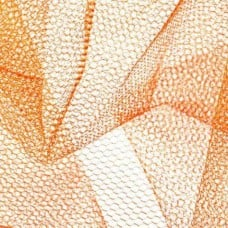 Nylon Netting Fabric in Orange