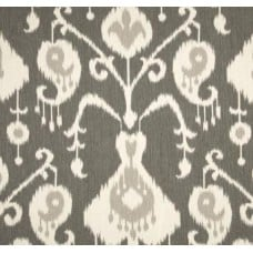 Ikat Java in Pewter Home Decor Cotton Fabric