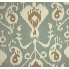 Ikat Java in Spa Green Home Decor Cotton Fabric