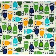 Flannelette Owl Zoo Fabric 100% Cotton Fabric
