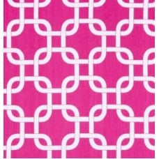 Gotchanow White on Candy Pink Home Decor Cotton Fabric
