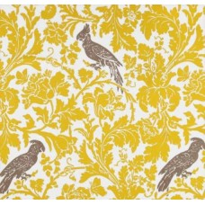 REMNANT - A Cockatoo Bright Yellow Home Decor Fabric