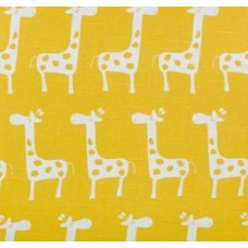 A Giraffe Families Yellow Home Decor Cotton Fabric