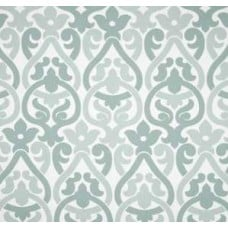 Alex In Pale Grey, Light Blue And White Home Decor Cotton Fabric