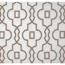 Bordeaux in Taupe and White Home Decor Cotton Fabric