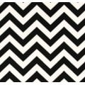 Chevron Zig Zag Home Decor Cotton Fabric Black and White