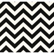 Chevron Zig Zag Cotton Home Decor Fabric Black and White