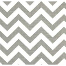 Chevron Zig Zag Home Decor Cotton Fabric Storm Grey