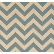 Chevron Zig Zag Natural Village Blue Home Decor Cotton Fabric