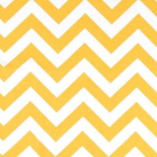 Chevron Zig Zag Yellow Home Decor Cotton Fabric