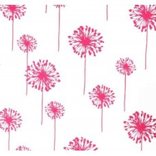 Dandelion in Candy Pink on White Home Decor Cotton Fabric
