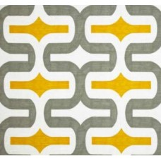 Embrace in Grey & Yellow Home Decor Cotton Fabric