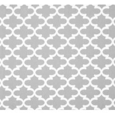 Fulton in White and Light Grey Home Decor Cotton Fabric