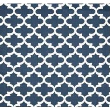 Fulton In White and Navy Home Decor Cotton Fabric