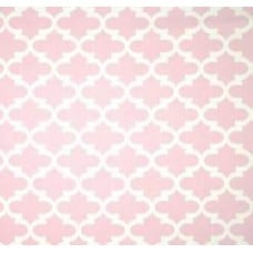 Fulton in White and Soft Pink Twill Home Decor Cotton Fabric