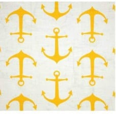 Fynne Anchor in Corn Yellow Home Decor Cotton Fabric
