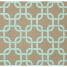 Gotchanow in Powder Blue & Taupe Home Decor Cotton Fabric