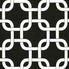 Gotchanow in White on Black Home Decor Cotton Fabric