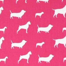 Hot Dog Pink Home Decor Cotton Fabric