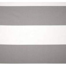 Jumbo Stripe Home Decor Fabric Grey and White