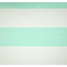 Jumbo Stripe Home Decor Fabric Mint Green and White