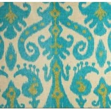 Marrakesh in Lime & Turquoise on Natural Home Decor Cotton Blend Fabric