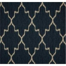 Navy & Oatmeal Ikat Home Decor Cotton Fabric