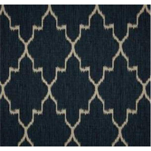 Navy Oatmeal Ikat Home Decor Cotton Fabric Fabric Traders