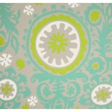 Susani Green and Turquoise Harmony Cotton Twill