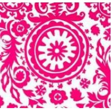 REMNANT - Susani Home Decor Cotton Fabric in Hot Pink