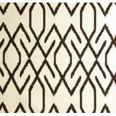 Zoe in Brown on Ivory Home Decor Cotton Fabric