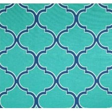 Irondale Turquoise Outdoor Fabric by Richloom