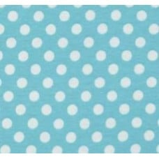 Stretch Cotton Jersey Fabric Polka Dot Blue by Riley Blake