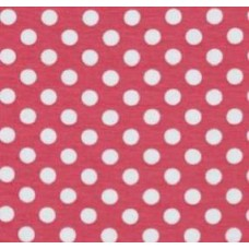 Stretch Cotton Jersey Fabric Polka Dot Pink by Riley Blake