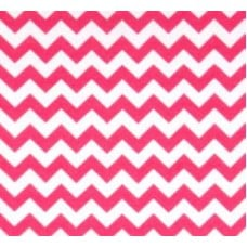 95% Cotton Jersey Chevron Stretch Fabric Pink