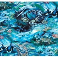 American Ocean Wildlife Cotton Fabric by Robert Kaufman