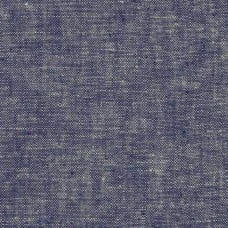 Denim Look Linen Blend Fabric