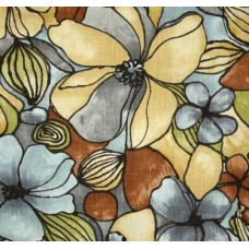 Whitlock Jumbo Florals in Tans Linen Look Home Decor Fabric
