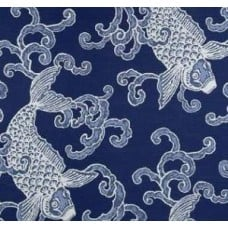 Baltic Blue Pisces Slub Luxe Home Decor Fabric