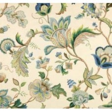 Jewels Bissac in Blues Home Decor Cotton Fabric by Kaufmann
