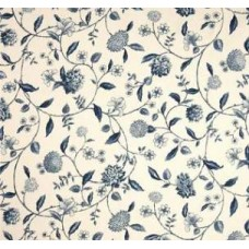 Nassau Vine Toile Luxe Cotton in Porcelain Home Decor Fabric by Waverly
