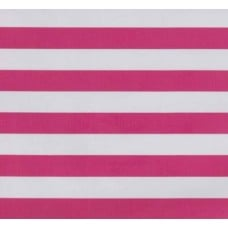 Mexican Oilcloth Laminated Fabric Stripes Hot Pink