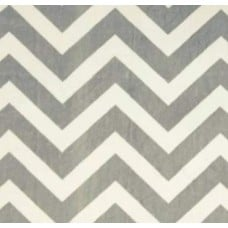 Minky Chevron Fabric in Silver Grey