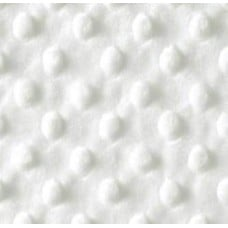 Minky Fabric Dimple in White