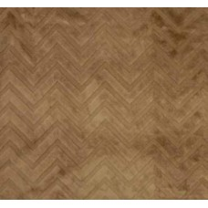 Minky Fabric Embossed Chevron Tan