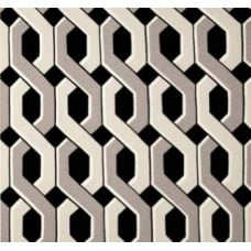 Chain Lattice in Black Outdoor Fabric