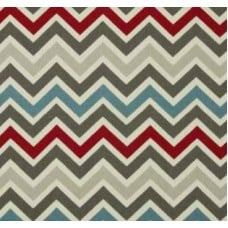 Chevron Zig Zag in Natural Pewter Home Decor Cotton Fabric