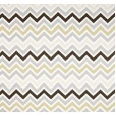 Chevron Zig Zag in Stone Rock Home Decor Cotton Fabric