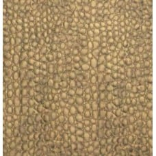 REMNANT - Faux Leather Dark Gold Crocodile Fabric