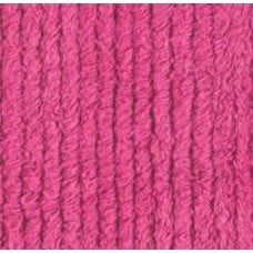 Thick Chenille in Hot Pink - OFFCUT